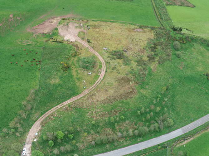 Aerial Photograph of a Development site in Cromlix