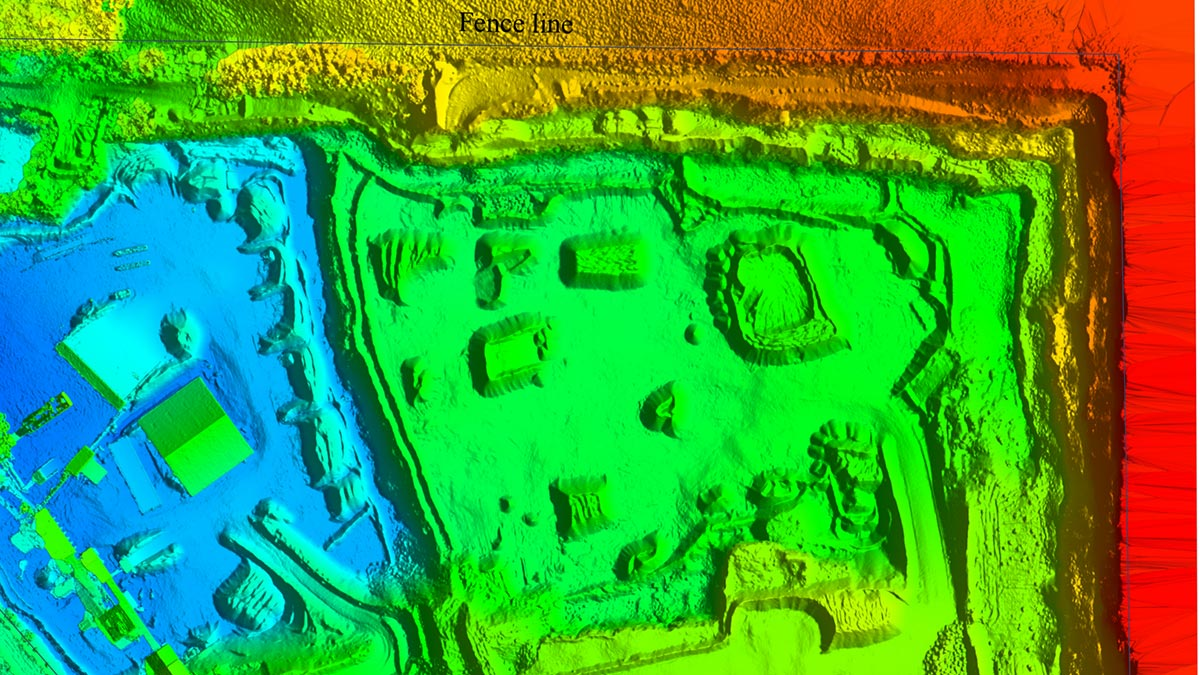 Stockpile and topographic aerial survey in a quarry in Scotland