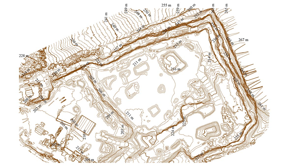 Aerial stockpile and topographic survey of a quarry in Scotland