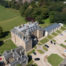 an aerial image of Elie House, a historic home in Scotland
